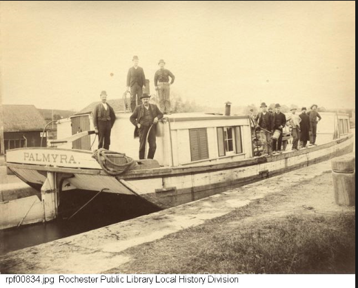 A-Scow-on-the-Erie-Canal